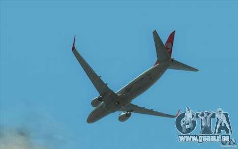 Boeing 737-800 THY für GTA San Andreas Rückansicht