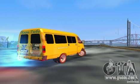 Gazelle 2705 Minibus pour GTA San Andreas sur la vue arrière gauche