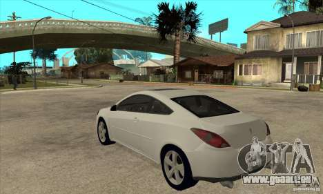 Pontiac G6 Stock Version pour GTA San Andreas sur la vue arrière gauche