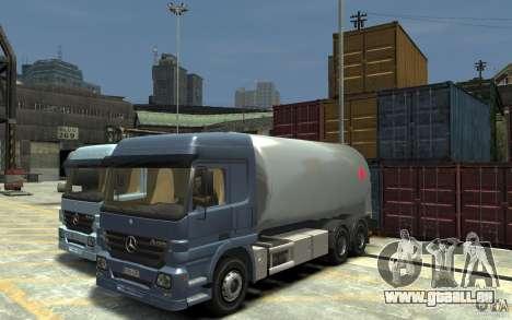 Mercedes Benz Actros Gas Tanker für GTA 4