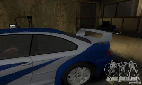 BMW M3 Tuneable pour GTA San Andreas