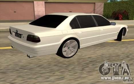 BMW 750iL E38 pour GTA San Andreas vue arrière
