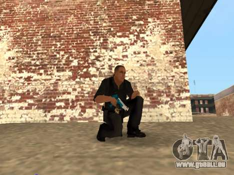 Chrome and Blue Weapons Pack pour GTA San Andreas septième écran