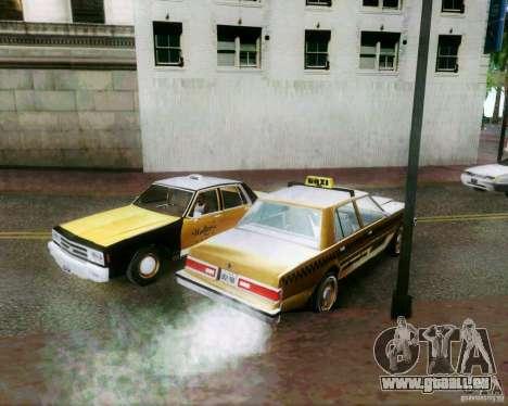 Chevrolet Impala 1986 Taxi Cab pour GTA San Andreas vue de dessus