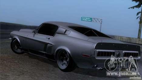 Shelby GT500 1969 pour GTA San Andreas vue arrière