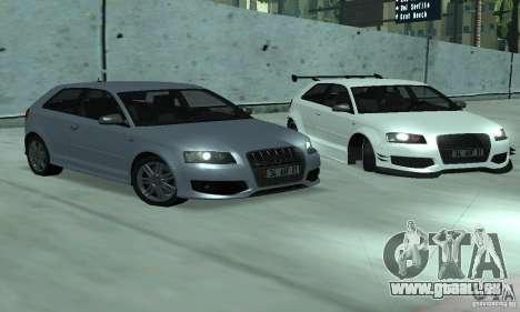 Audi S3 Full tunable pour GTA San Andreas vue de droite