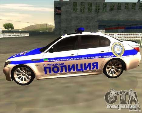 BMW M5 E60 Police pour GTA San Andreas laissé vue