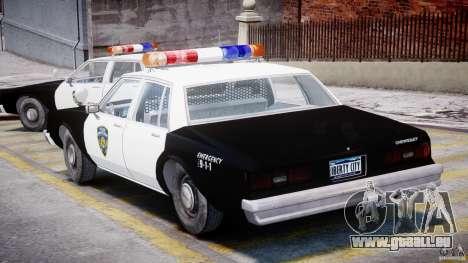 Chevrolet Impala Police 1983 pour GTA 4 est un droit