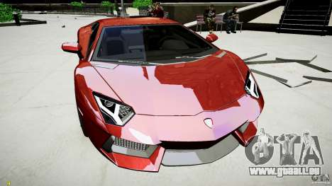 Lamborghini Aventador LP700-4 pour GTA 4 Vue arrière de la gauche