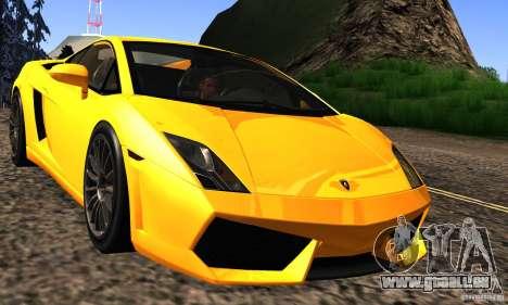 Lamborghini Gallardo LP560-4 pour GTA San Andreas vue intérieure