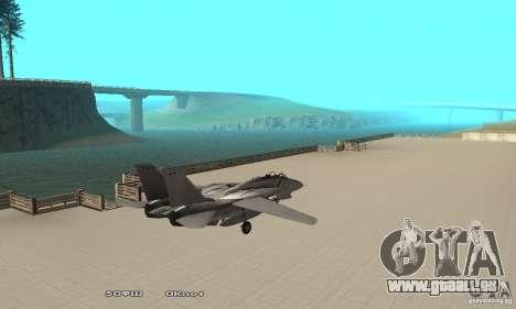 F14W Super Weirdest Tomcat Skin 1 pour GTA San Andreas sur la vue arrière gauche