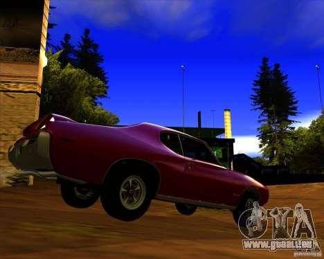 Pontiac GTO 1969 für GTA San Andreas zurück linke Ansicht