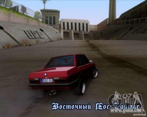BMW 5-er E28 pour GTA San Andreas sur la vue arrière gauche
