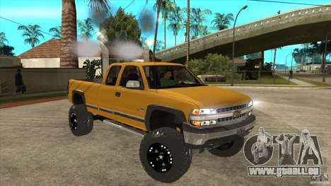 Chevrolet Silverado 2500 Lifted pour GTA San Andreas vue arrière