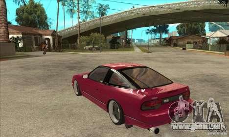 Nissan 240SX Zenki pour GTA San Andreas sur la vue arrière gauche