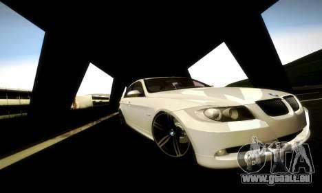 BMW 330 E90 pour GTA San Andreas vue intérieure