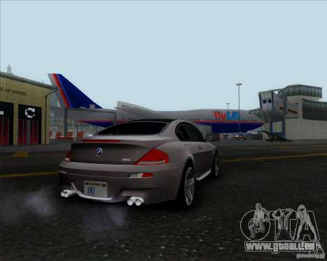 BMW 6 Series M pour GTA San Andreas sur la vue arrière gauche
