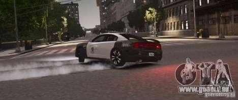 Dodge Charger 2011 Police pour GTA 4 Vue arrière de la gauche