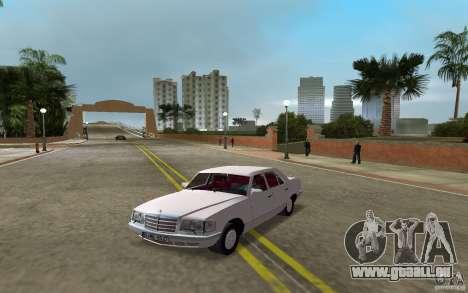 Mercedes-Benz W126 500SE pour GTA Vice City sur la vue arrière gauche