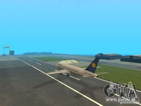 Boeing 767-300 Lufthansa pour GTA San Andreas vue de droite