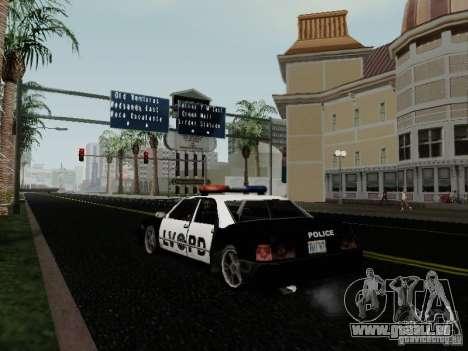 Sunrise Police LV für GTA San Andreas zurück linke Ansicht