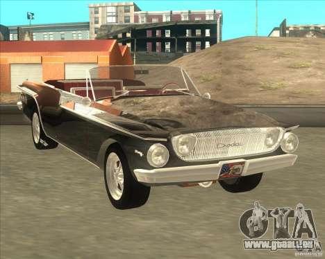 1962 Dodge Dart 440 pour GTA San Andreas laissé vue
