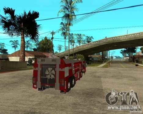 Rosenbauer Simba 8x8 GFLF FDSA für GTA San Andreas zurück linke Ansicht