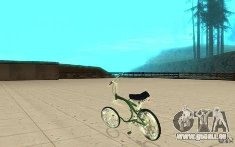 Custom Bike pour GTA San Andreas sur la vue arrière gauche