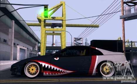 Nissan 300ZX Bad Shark für GTA San Andreas Rückansicht