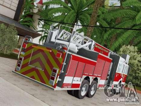 Pierce Aerials Platform. SFFD Ladder 15 für GTA San Andreas Unteransicht