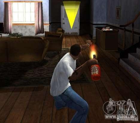 Cocktail Molotov pour GTA San Andreas troisième écran