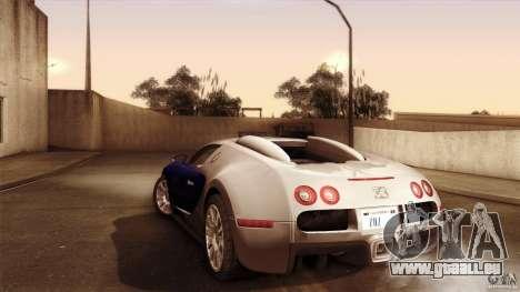 Bugatti Veyron 16.4 pour GTA San Andreas vue arrière
