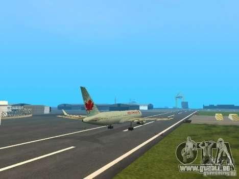 Boeing 767-300 Air Canada für GTA San Andreas Innenansicht