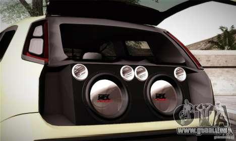 Fiat Punto Evo 2010 Edit pour GTA San Andreas vue de dessus