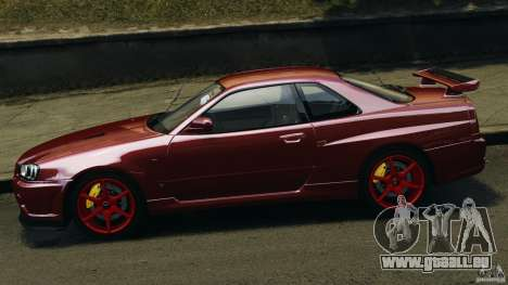 Nissan Skyline GT-R R34 2002 v1.0 für GTA 4 linke Ansicht