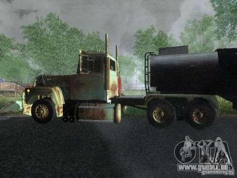 Armored Mack Titan Fuel Truck für GTA San Andreas linke Ansicht