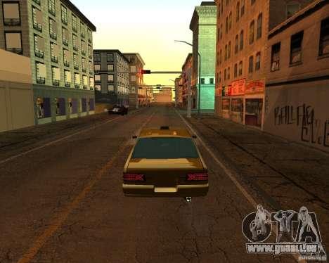 Azik Taxi pour GTA San Andreas laissé vue