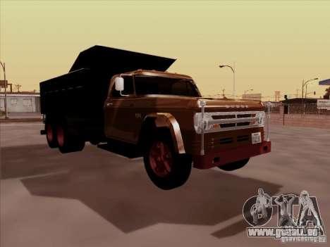Dodge Dumper pour GTA San Andreas laissé vue