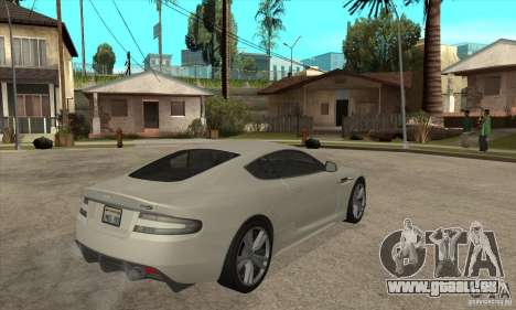 Aston Martin DBS pour GTA San Andreas vue de droite