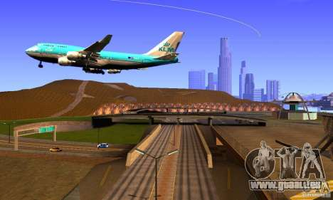 Boeing 747 KLM für GTA San Andreas rechten Ansicht
