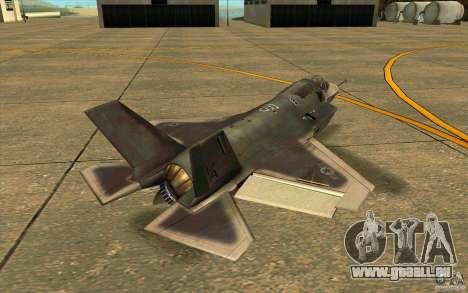 Lockheed F-35 Lightning II pour GTA San Andreas sur la vue arrière gauche