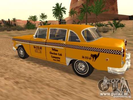 Checker Marathon Yellow CAB für GTA San Andreas linke Ansicht