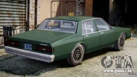 Chevrolet Impala 1983 v2.0 pour GTA 4 est un droit
