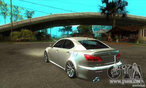 Lexus IS F 2009 pour GTA San Andreas vue arrière