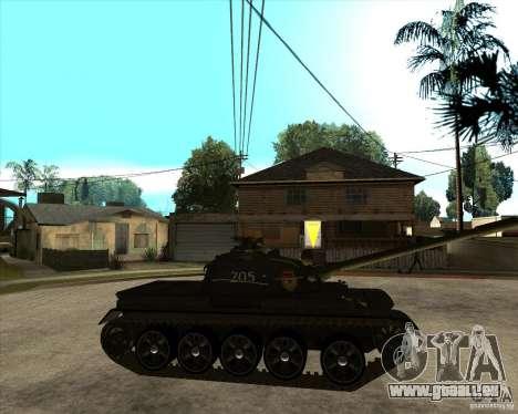 T-55 pour GTA San Andreas vue de droite