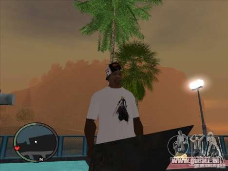 Bleach t-shirt pour GTA San Andreas deuxième écran
