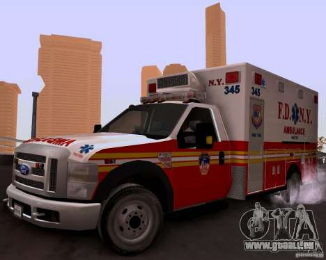 Ford F-350 F.D.N.Y pour GTA San Andreas