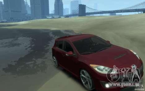 Mazda 3 MPS 2010 pour GTA 4 Vue arrière