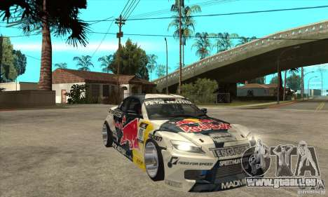 Mazda RX8 NFS Team Mad Mike pour GTA San Andreas vue arrière