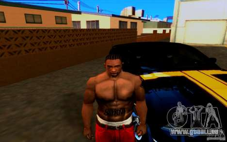 Slipknot tatoo pour GTA San Andreas deuxième écran